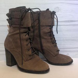 Chinese Laundry Brown Leather Ankle Boots 8